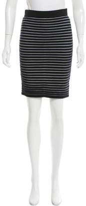 Jonathan Saunders Striped Knit Skirt