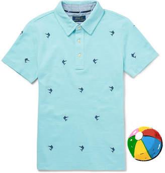 Polo Ralph Lauren Boys Ages 8 - 10 Embroidered Cotton-piqué Polo Shirt