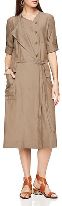 BCBGMAXAZRIA Halena Twill Midi Dress $298 thestylecure.com