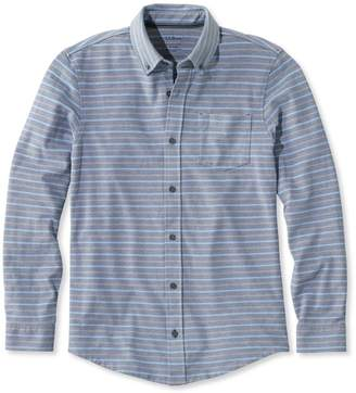 L.L. Bean L.L.Bean Performance Pique-Knit Shirt, Long-Sleeve Slightly Fitted Stripe