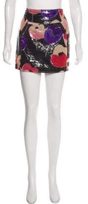 Diane von Furstenberg Poppy Garden Sequined Skirt w/ Tags