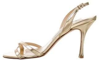 Jimmy Choo Jag Metallic Sandals