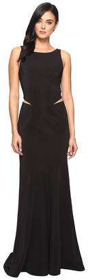 Faviana Ottoman Scoop Neck w/ Illusion Cut Out 7987 Women's Dress