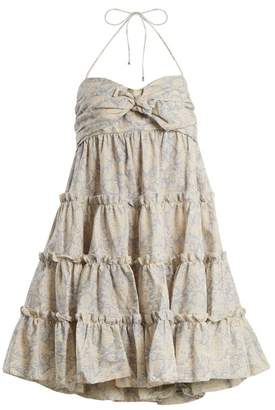Zimmermann Helm botanical-print linen and cotton-blend dress