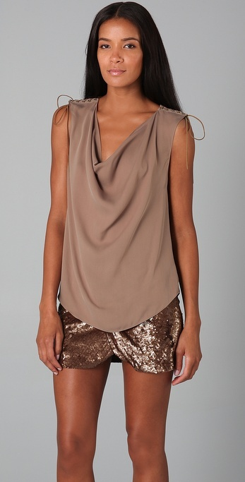 Haute hippie Cowl Top with Lacing