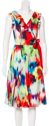 Ted Baker Printed Wrap Midi Dress