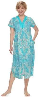 Miss Elaine Petite Essentials Long Paisley Robe