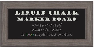 Amanti Art Large Framed Liquid Chalkboard Wall Decor