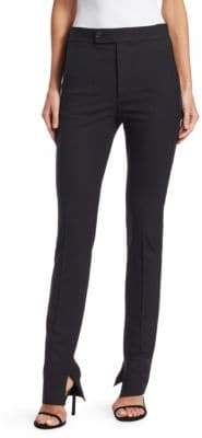Helmut Lang Stretch Wool Stripe Slim Pants
