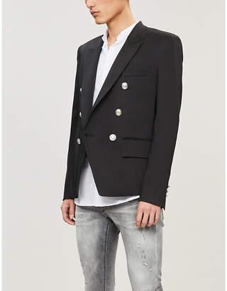 Balmain Double-breasted cotton-blend blazer