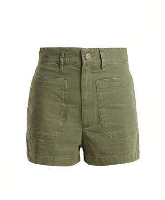Masscob High-rise cotton shorts
