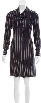 Frame Stripe Long Sleeve Dress