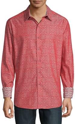 Robert Graham Men's Danvers Print Long Sleeve Shirt