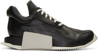 Rick Owens Black adidas Originals Edition Level Sneakers $890 thestylecure.com