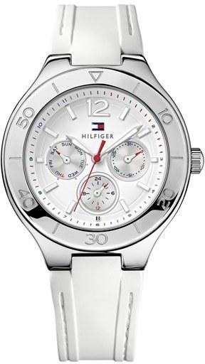 Tommy Hilfiger Round Multifunction Silicone Strap Watch, 40mm