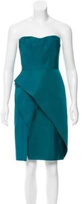 J. Mendel Origami Pleated Dress Teal Origami Pleated Dress