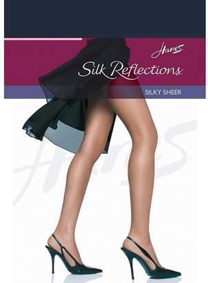Hanes womens Silk Reflections Reinforced Toe Pantyhose-CD-3PK