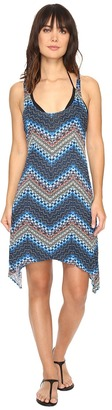 Lucky Brand Nomad Chevron Shark Bite Dress Cover-Up $66 thestylecure.com