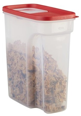 Rubbermaid Flip-Top Cereal and Food Storage Container, 18 Cup/4.26 Liter, Red