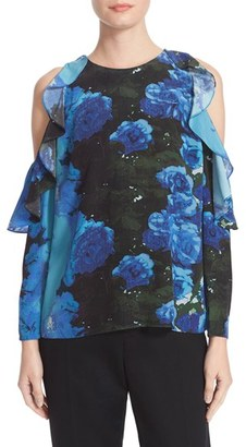 Women's Tracy Reese Floral Print Flounced Blouse $248 thestylecure.com
