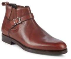 Buckle Leather Chelsea Boots