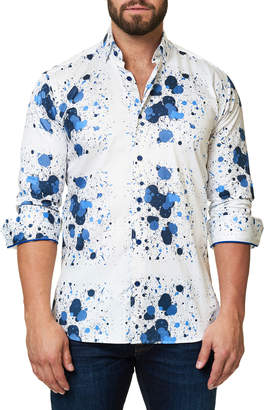 Desigual Maceoo Shaped-Fit Luxor Splash Sport Shirt