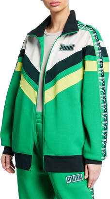 FENTY PUMA by Rihanna Logo Stripe Colorblock Oversized Track Jacket