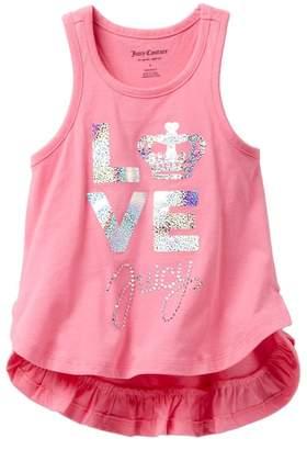 Juicy Couture Love Juicy Ruffle Bottom Tank (Little Girls)