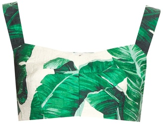 DOLCE & GABBANA Banana leaf-print cropped top $745 thestylecure.com
