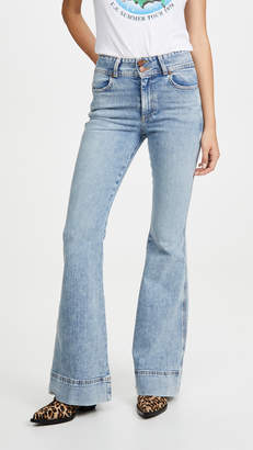 Alice + Olivia Jeans Beautiful Ex High Waisted Bell Jeans