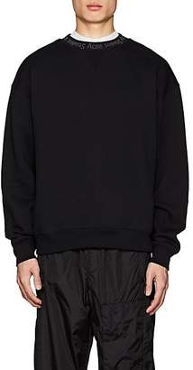 Acne Studios Men's Flogho Cotton Fleece Sweatshirt - Black