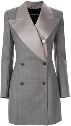 Y/Project check pattern tuxedo dress