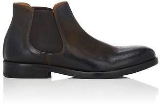Barneys New York MEN'S DISTRESSED LEATHER CHELSEA BOOTS
