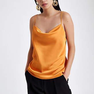 River Island Orange cowl neck cami top