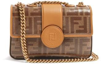 Fendi Ff Baguette Mini Leather Bag - Womens - Tan Multi