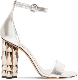 Salvatore Ferragamo 105mm Azalea Metallic Leather Sandals