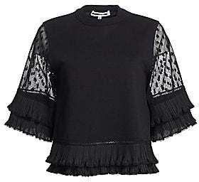 McQ Women's Lace Sleeve T-Shirt