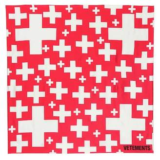 Vetements Swiss cross silk scarf