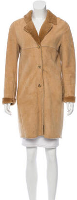 Andrew Marc Knee-Length Shearling Coat $250 thestylecure.com