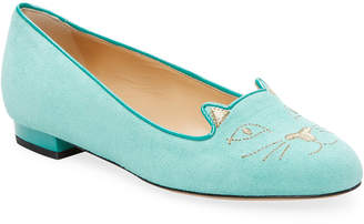 Charlotte Olympia Kitty Suede Loafer