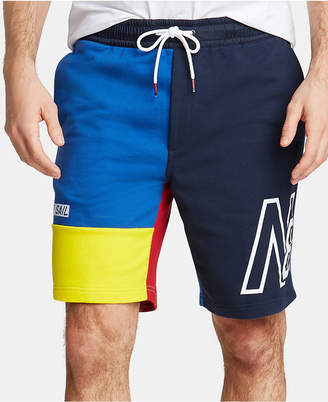 Nautica Men Blue Sail Colorblocked French Terry Shorts