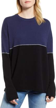 Velvet by Graham & Spencer Cashmere Colorblock Sweater