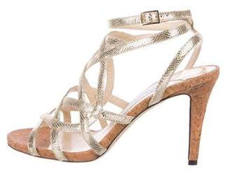 Jimmy Choo Metallic Cage Sandals