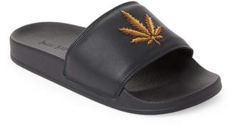 Palm Angels Embroidered Slip Sandals