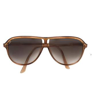 Courreges Vintage Brown Plastic Sunglasses