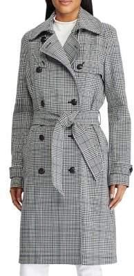 Lauren Ralph Lauren Glen Plaid Trench Coat