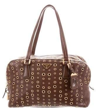 Prada Grommet Bauletto Bag