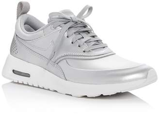 Nike Air Max Thea Metallic Lace Up Sneakers $115 thestylecure.com