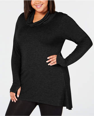 Cuddl Duds Plus Size Softwear Stretch Cowl-Neck Tunic