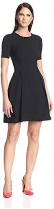 Society New York Women's Short Sleeve Fit-and-Flare Dress
